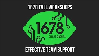 Fall Workshops 2018 - Effective Team Support