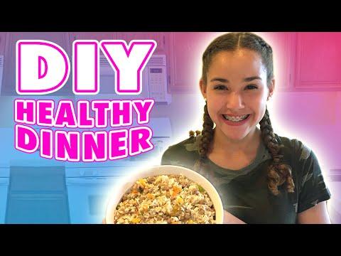 Gracie's DIY Healthy Dinner Recipe! (Haschak Sisters)