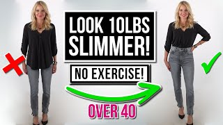 5 Slimming Style Tips To Help You INSTANTLY Look Slimmer Without Exercise (Fashion Over 40)