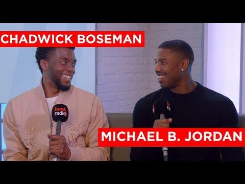 Chadwick Boseman & Michael B Jordan on Black Panther, Cast Parties & and Brag Off