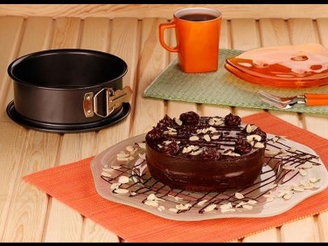 Çikolatalı Bademli Pasta