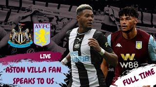 Newcastle United 1-1 Aston Villa | Opposition fan reaction