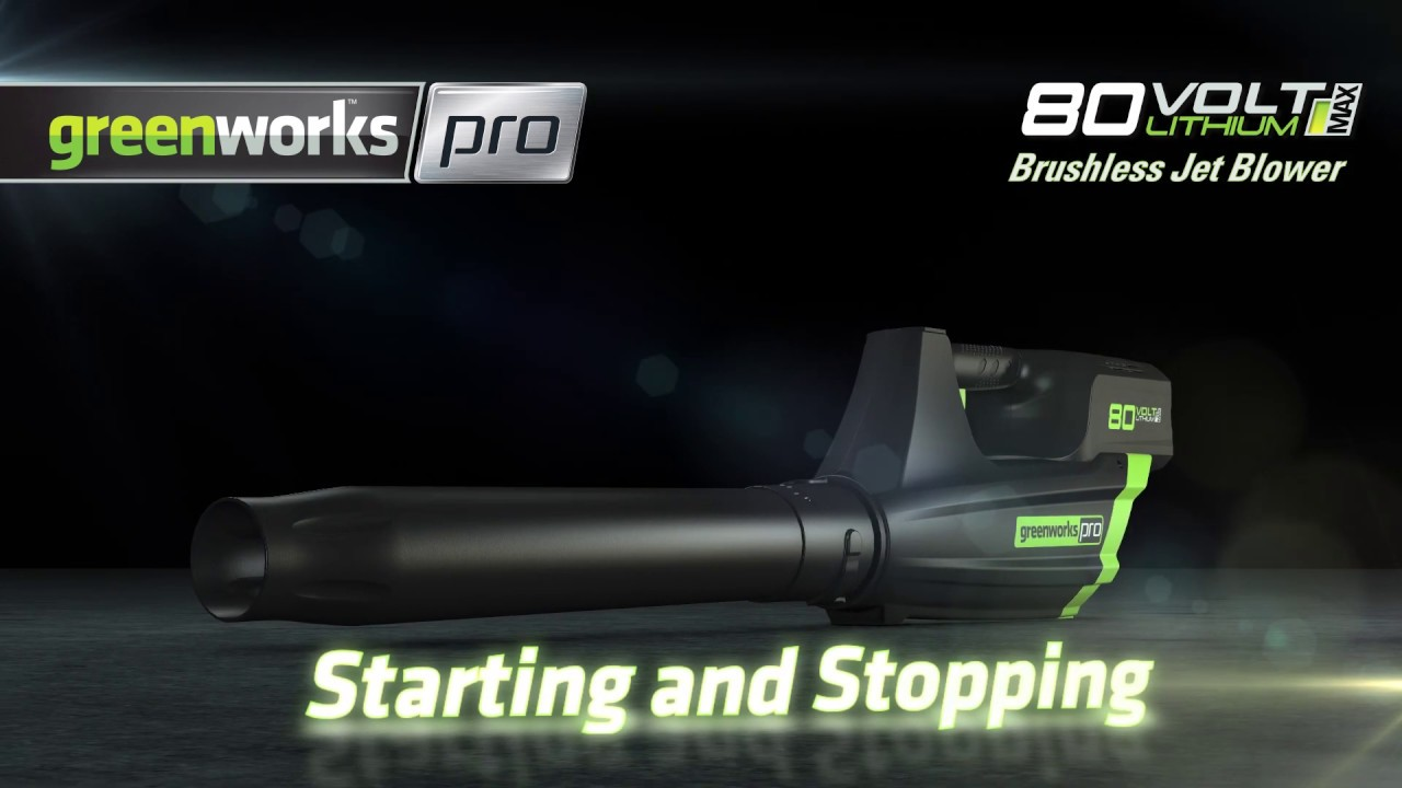 Greenworks Pro 80V Cordless Blower Start Stop