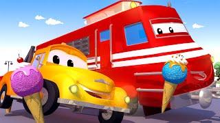 Tom, o caminhão de reboque -  Troy, o trem, sai dos trilhos! -  Cidade do Carro 🚗 Desenhos Animados