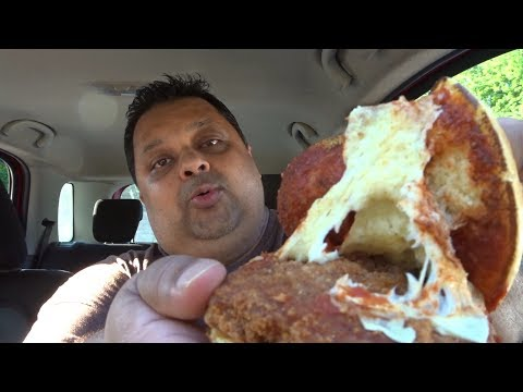 Eating Burger King's Chicken Parmesan Sandwich   Eating Show