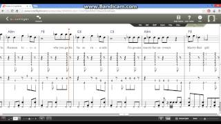 Rude - MAGIC! w/Lyrics (Music Score) Guitar/Bass Tabs and Drums Tabs
