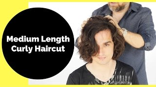 Medium Length Curly Haircut For Men - TheSalonGuy