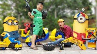 Trò Chơi Bé Sửa Xe Minions ❤ ChiChi ToysReview TV ❤ Đồ Chơi Trẻ Em Bài Hát PaPa Cho Bé