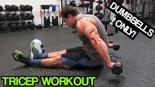 Intense 5 Minute Dumbbell Tricep Workout #2 by Anabolic Aliens