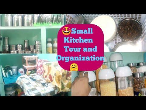 My Small Indian Non Modular Kitchen Tour | Small kitchen organisation ideas | August 2019