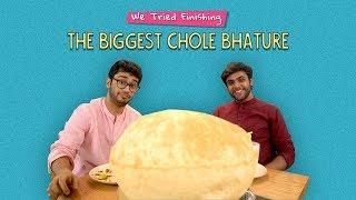 We Tried Finishing The Biggest Chole Bhature   Ft. Kanishk & Akshay   Ok Tested