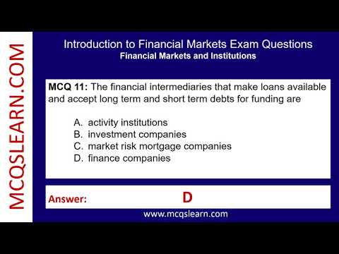 Introduction to Financial Markets Exam Questions - Trivia Test ...