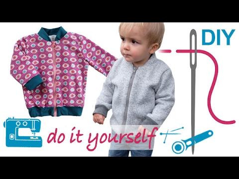 """DIY Unisex Kinderblouson / Collegejacke mit und ohne Futter nähen – Zierstoff Schnittmuster """"Bennie"""""""