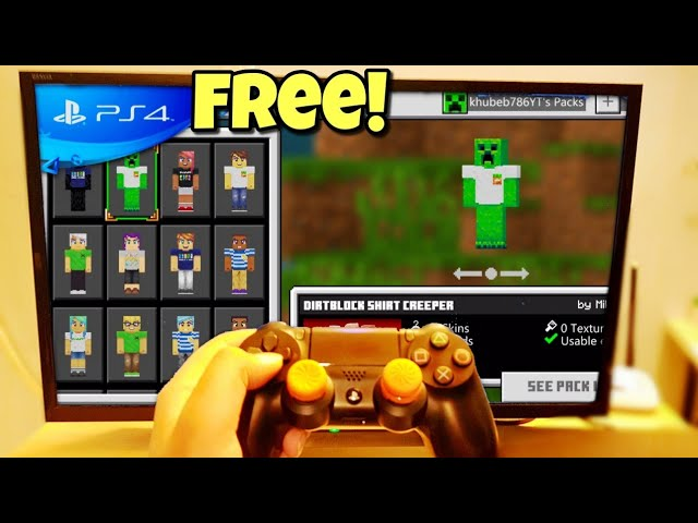 How To Get Free Skins In Minecraft Ps4