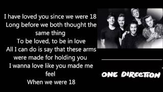 18   One Direction Lyrics