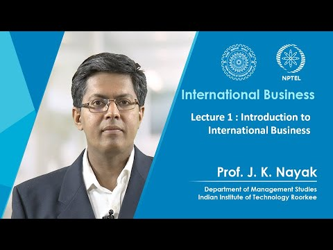 Lecture 01: Introduction to International Business