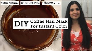 DIY Natural Hair Dye With COFFEE HAIR MASK | GET RID OF GREY HAIR