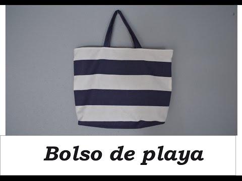 Bolso de playa con bolsillos DIY