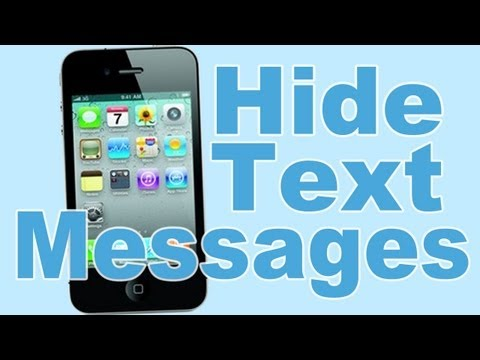 How To Hide Text Messages on iPhone