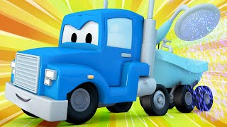 Truck videos for kids -  The GARDENING TRUCK helps Harvey the HARVESTER win the flower show!