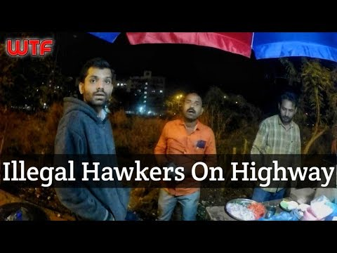 Illegal Hawkers On Sion Panvel Highway | Thunder On Road