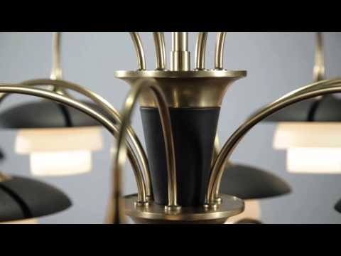 Video for Barron Polished Nickel and Black One-Light Wall Sconce
