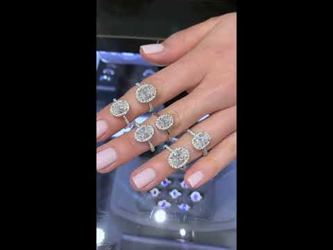 Oval Diamond Halo Engagement Rings IGTV