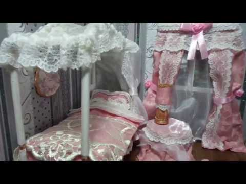 Romantic Roombox Dolls Tutorial/Casa di bambola/Tende/ Easy curtains
