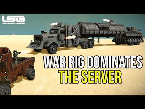 Space Engineers - War Rig Attacks Players Apocalypse Server