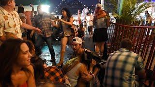 Witness footage of Las Vegas music festival shooting -video report