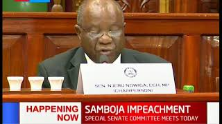 Special Senate Commitee meets today to discuss Samboja Impeachment case