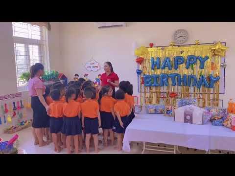 """Hoạt động Trải nghiệm """"Bé với sinh nhật"""" của các bé 5A1 Trường MN Tân Tiến"""
