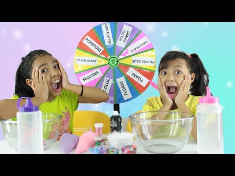 MYSTERY WHEEL OF SLIME CHALLENGE FOR KIDS ♥ RODA SLIME MISTERI