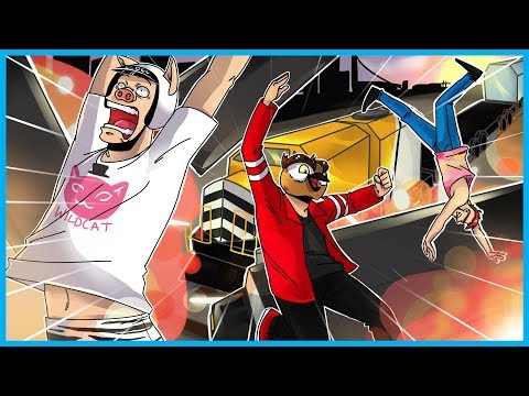 GTA 5 Online Funny Moments! - Stopping the Train, Mt. Chiliad RAGE, and Oppressor Racing!!