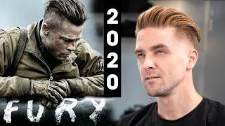 Brad Pitt Fury Undercut - Mens Hair 2020