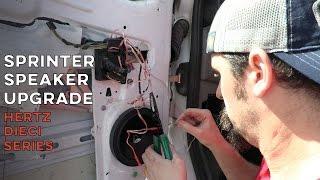 Sprinter Speaker Upgrade with Hertz Dieci Series   How To