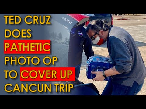 Ted Cruz Cancun Trip Leads to PATHETIC Photo-Op Pretending he Cares about Texas