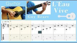 L'Eau Vive / Guy Béart (Guitar) [Notation + TAB]