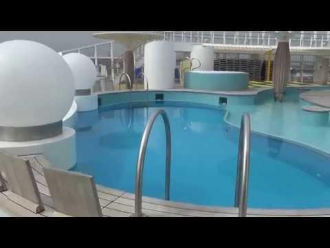 AIDAbella Hamburg Hafen neues Terminal - Schwimmbad Pool Kinderpool