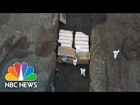 Huge Trench Used To Bury NYC Coronavirus Victims | NBC News