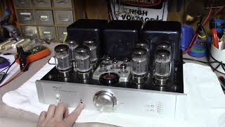 Bench Test   Cayin A 100T 8 X KT88 Tube Amplifier