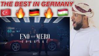 ARAB REACTION TO GERMAN RAP BY ENO Feat. MERO   Ferrari **LEGENDARRY**
