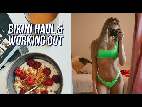 day in my life: bikini try-on haul & working out | maddie cidlik