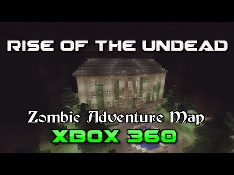 Minecraft Xbox360 Rise of the Undead Zombie Adventure Map