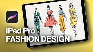 Fashion Design Sketches On Procreate!