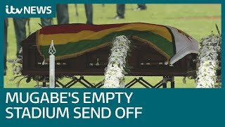 Robert Mugabe's funeral takes place in near-empty stadium | ITV News