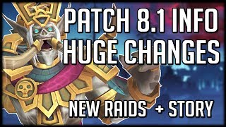 HUGE CHANGES IN PATCH 8.1 - Everything We Know So Far   WoW Battle for Azeroth