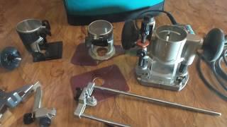 Кромочный ручной фрезер Makita rt0700cx2 3 приспособления