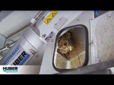 Video: HUBER Siebanlage ROTAMAT® Ro2 zur kommunalen Zulauf-Siebung