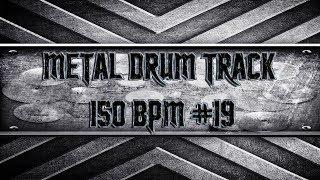 Aggressive Metal Drum Track 150 BPM (HQ,HD)